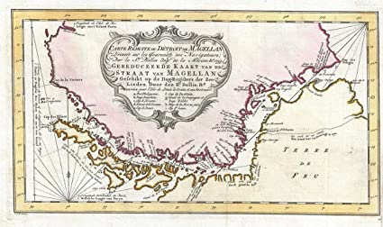Tip Of South America Map.Amazon Com Historic Map Bellin Antique Map Of The Straits Of