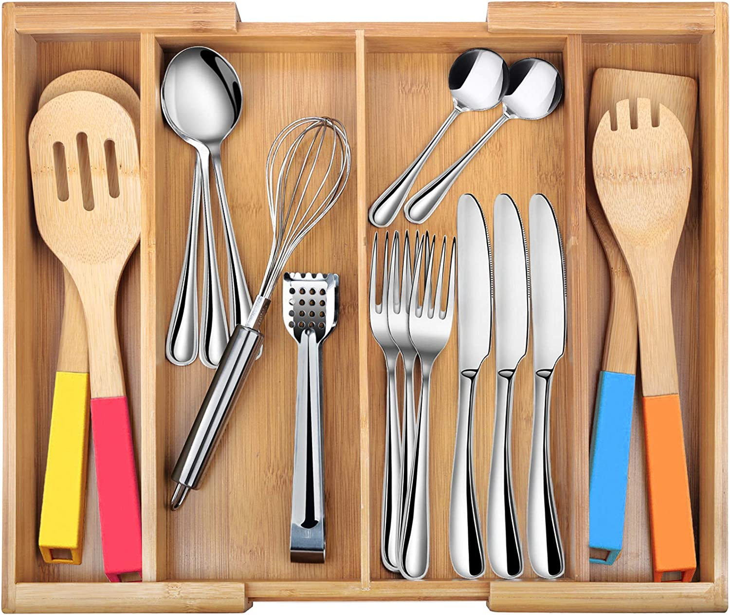 Silverware Drawer Tray Organizer Kitchen Storage Holder Flatware Cutlery Utensil