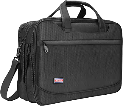Taygeer Spacious Business Laptop Carry Case with Handle Durable Messenger Shoulder Bag for Computer and Notebook Black Water Resistant Briefcase for Men Women Laptop Bag 15.6 Inch