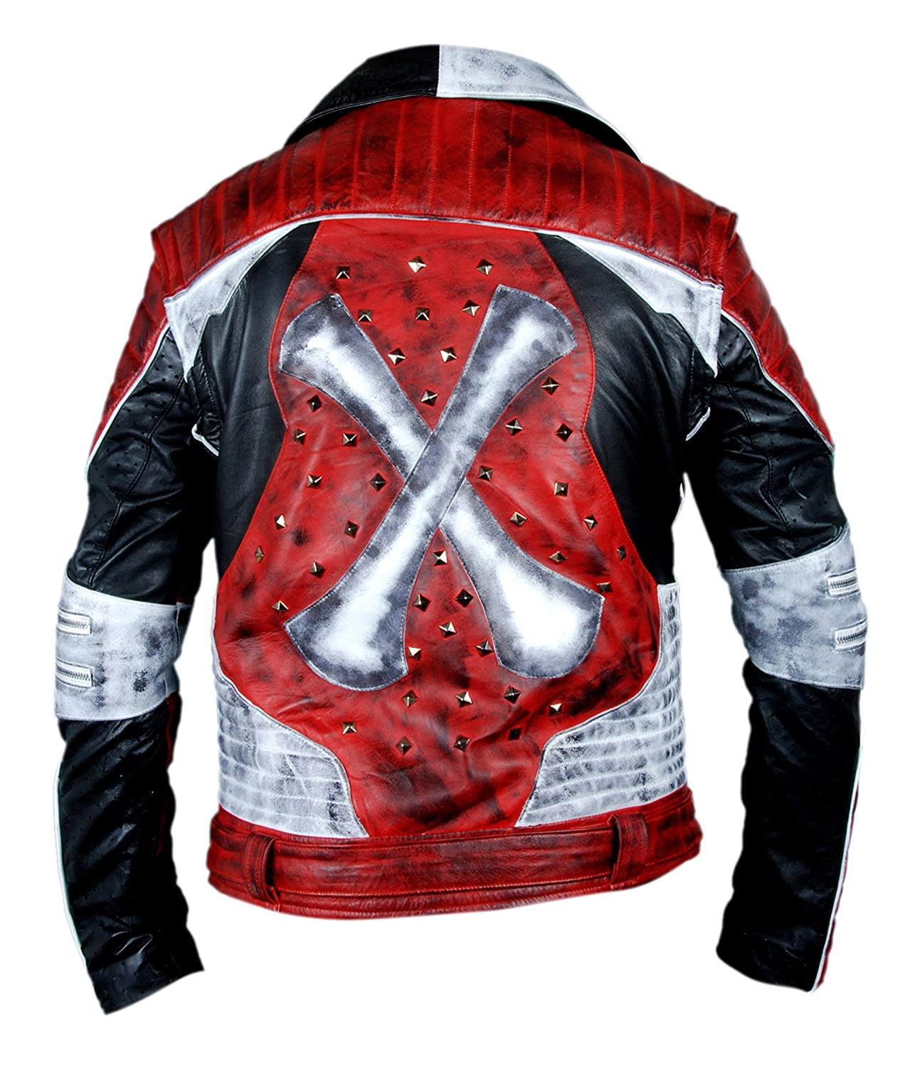 F&H Mens Genuine Leather Carlos Descendants 2 Jacket with Removable Arms at Amazon Mens Clothing store: