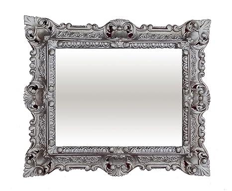 Muebles Antiguos Y Decoración Espejos Espejo De Pared Plata Envejecida Ovalado 45 X 38cm Barroca Antiguo Reproducción