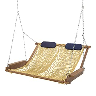 product image for Nags Head Hammocks Cumaru Deluxe Rope Porch Swing, Tan DuraCord