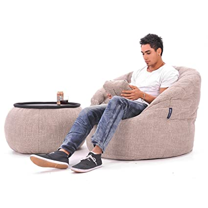 Ambient Lounge ambient lounge butterfly sofa designer bean bag with filling eco