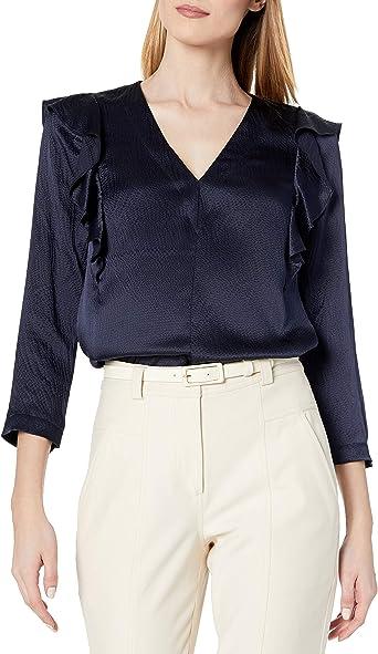 Rebecca Taylor Womens Long Sleeve Silk Top