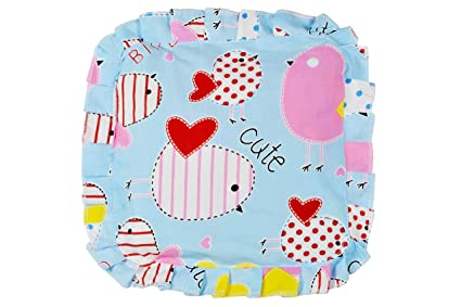 Sharma Clothing Baby's Soft Cotton Musterd Seeds Detachable Neck Pillow  (Light Sky)