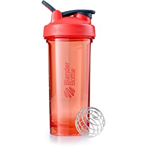 BlenderBottle Pro Series Shaker Bottle, 28-Ounce, Coral