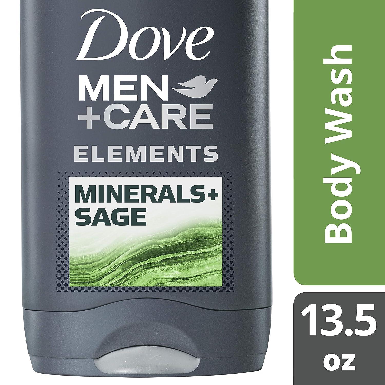 Dove Men + Care Elements Body Wash, Minerals & Sage, 13.5 Oz(pack Of 3), 2.16 Lb