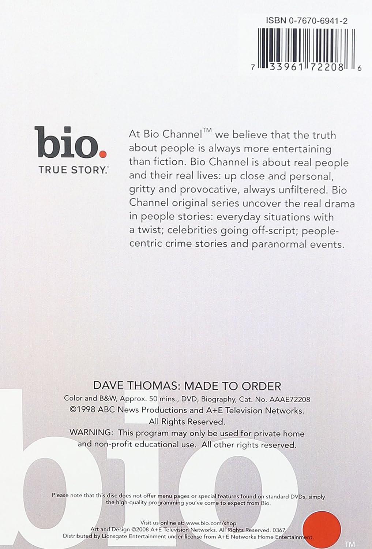 Amazon.com: Biography: Dave Thomas: Biography: Movies & TV