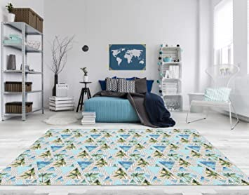 Pvc Fußboden Teppich ~ Pvc vinyl fussboden fußboden boden teppich matte forwall palmen