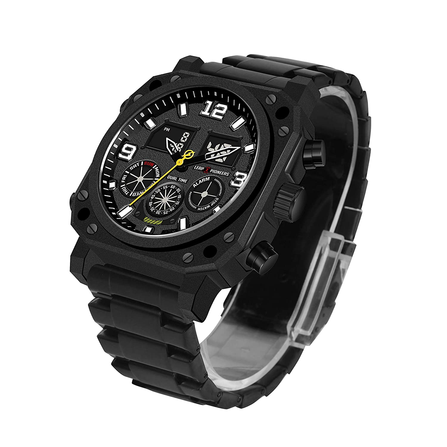 Men s Military Watches,Classic Fashion Casual Watch Waterproof Analog Digital Sports Army Watches for Men LPJ03