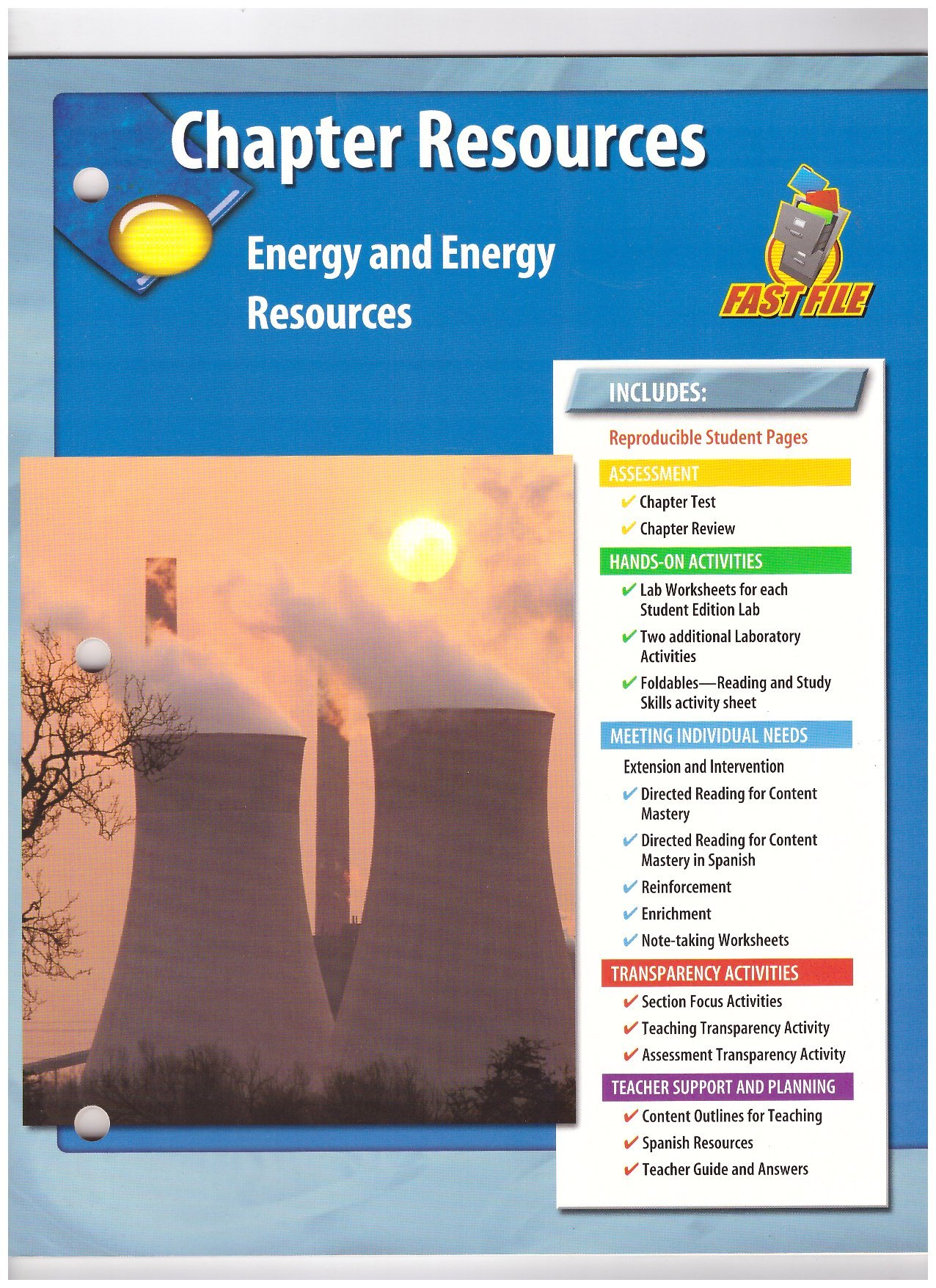 Chapter Resources: Energy and Energy Resources (GLENCOE SCIENCE FAST ...