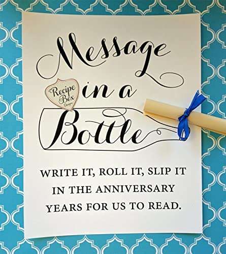 Amazon.com: Message In A Bottle 8x10 Sign, Wedding Sign Only. Write ...