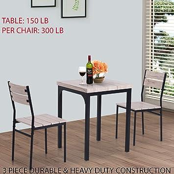 Brilliant Amazon Com 3 Piece Durable Heavy Duty Construction Inzonedesignstudio Interior Chair Design Inzonedesignstudiocom