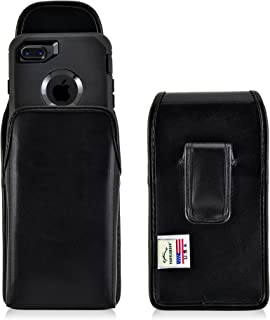 product image for Turtleback Holster Made for Apple iPhone 8 & iPhone 7 with OB Defender case Black Vertical Belt Case Leather Pouch with Executive Belt Clip Made in USA