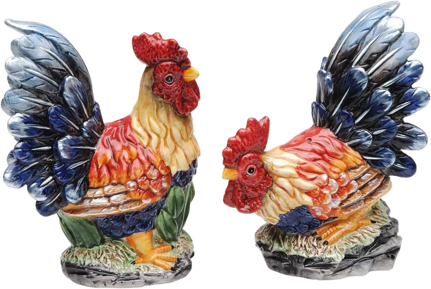 Appletree Design Barn Yard Rooster Salt and Pepper Set, 4-1/2-Inch