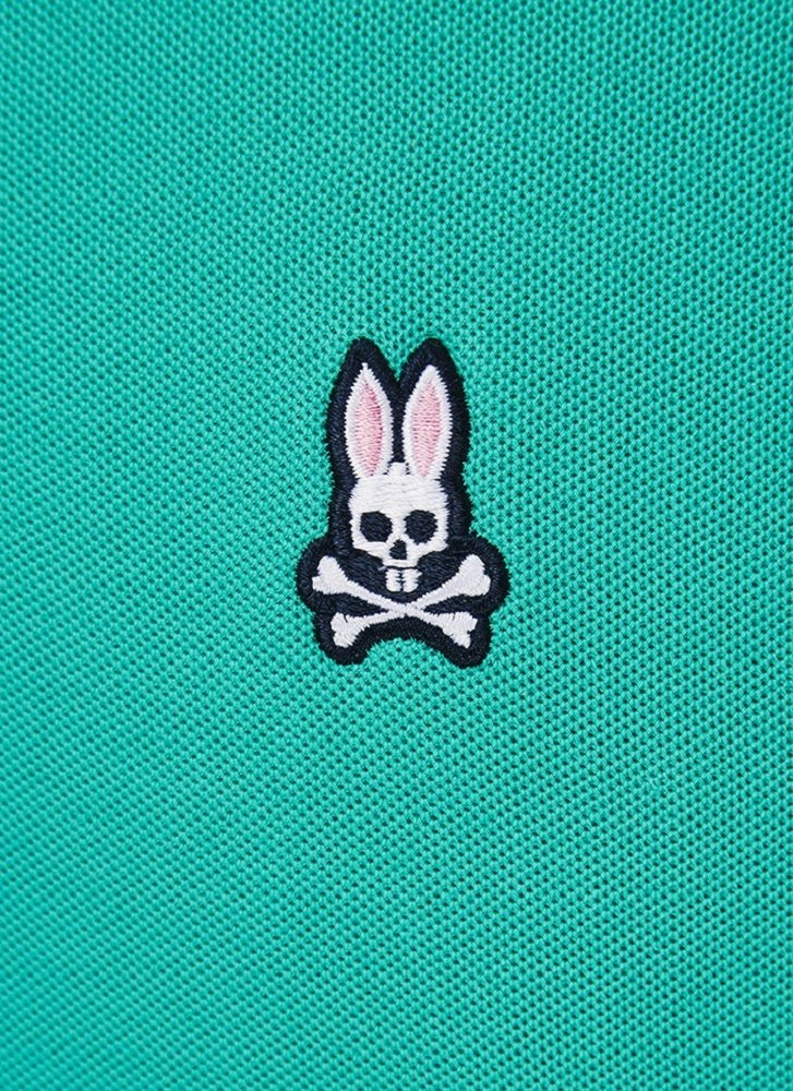 Psycho Bunny Mens Classic Bunny Polo Shirt at Amazon Mens Clothing store: