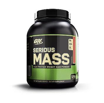 Optimum Nutrition Serious Mass Ganador, Fresa, 2730 g: Amazon.es: Salud y cuidado personal