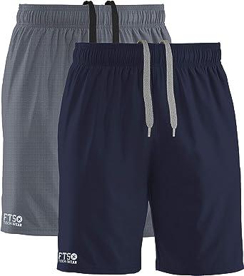 FULL TIME SPORTS® Pack de 2 Pantalones Cortos para Hombre con 3 Bolsillos con Cremallera para Correr y Gimnasio: Amazon.es: Ropa y accesorios
