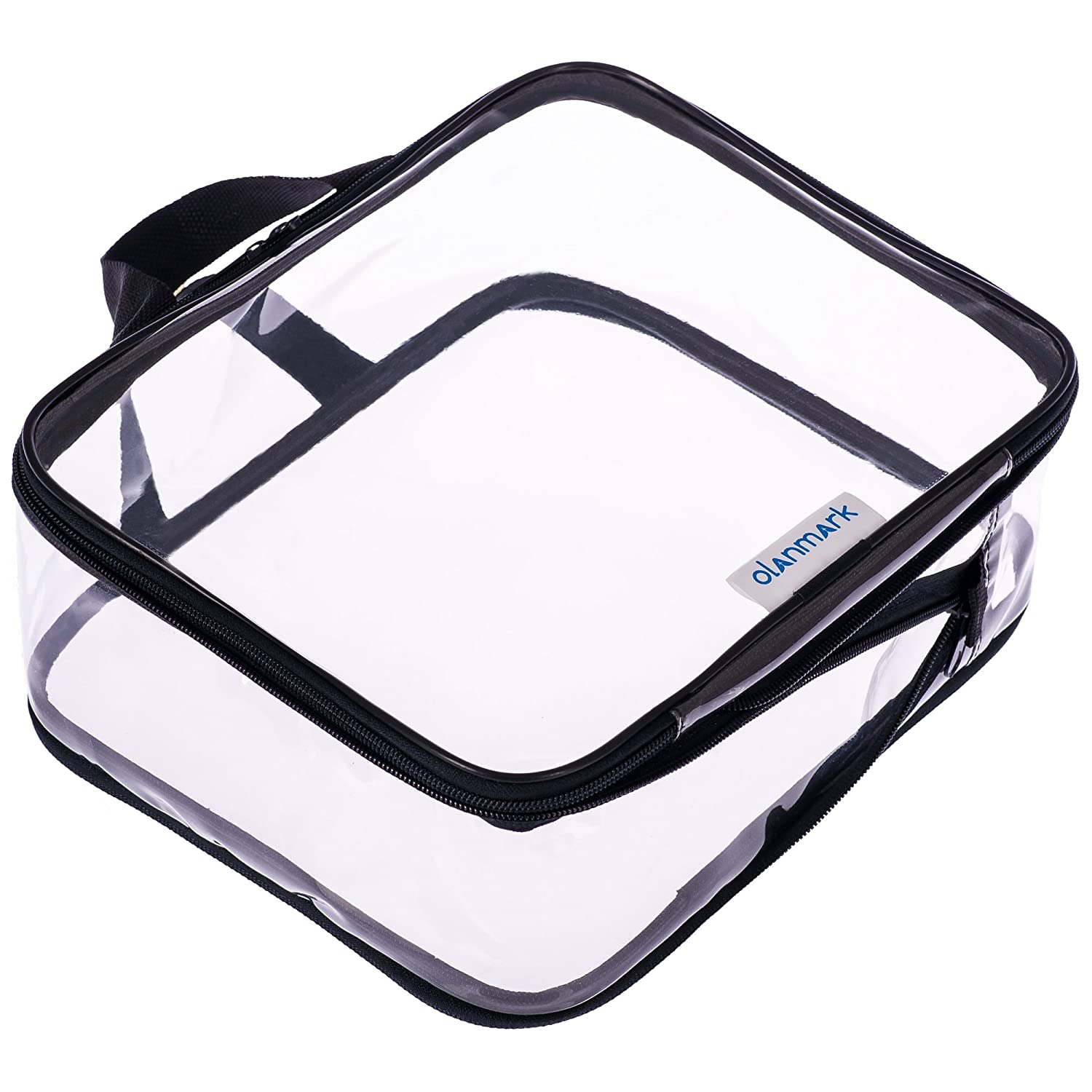 Clear Toiletry Bag - Compression Packing Cube - PVC Cosmetic Bag - Transparent Makeup Bag - See Through Plastic Clear Bag
