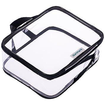 Amazon.com: Bolsa de cosméticos transparente, bolsa de aseo ...