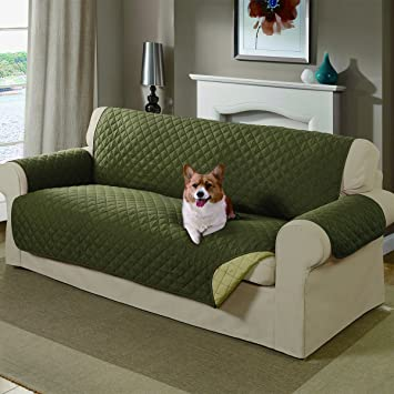 Mason Reversible Sofa Cover, Sage