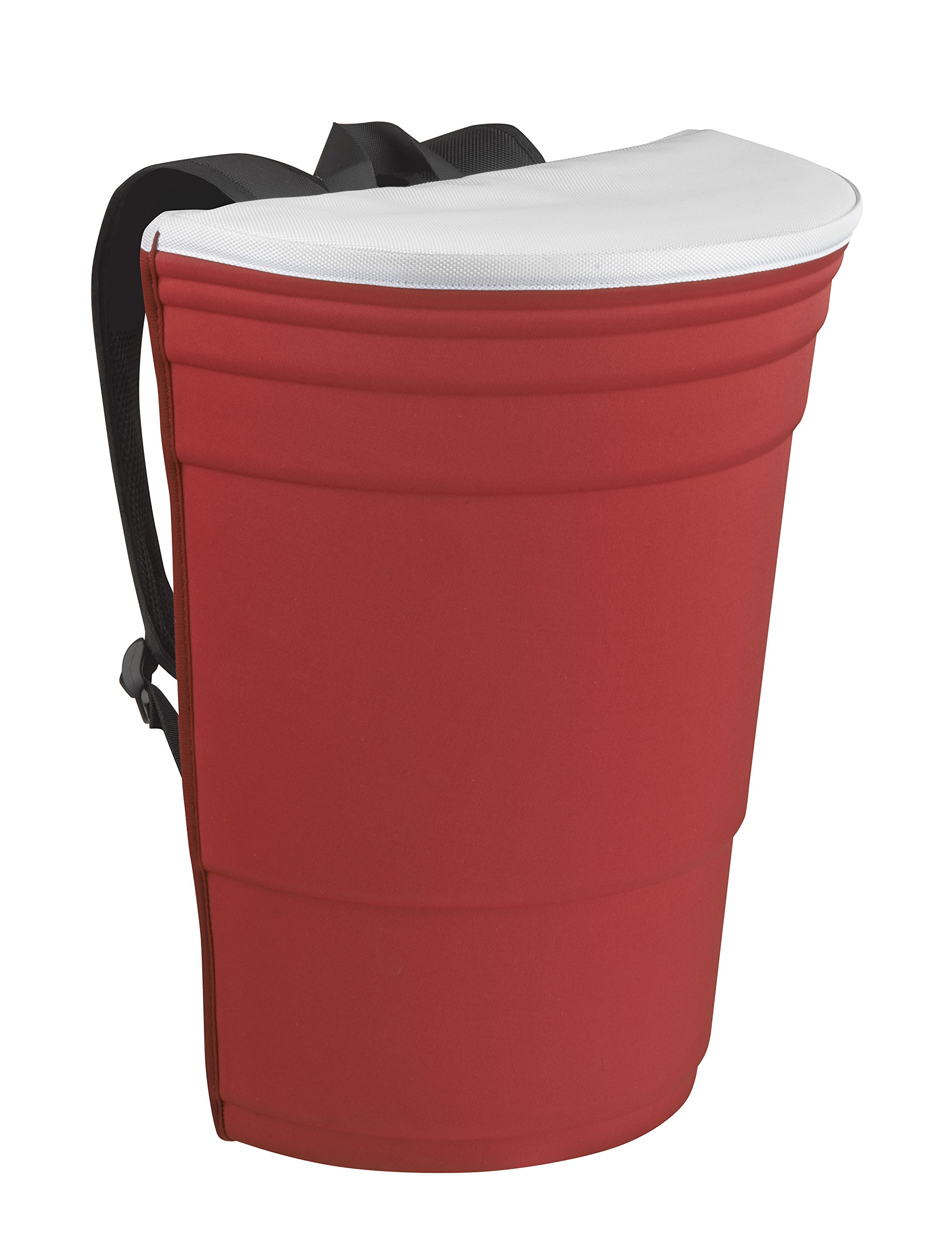 Red Cup Living Backpack - Original and Fun Sports Fan Backpack Designed To Turn Heads - Perfect As A Picnic Backpack