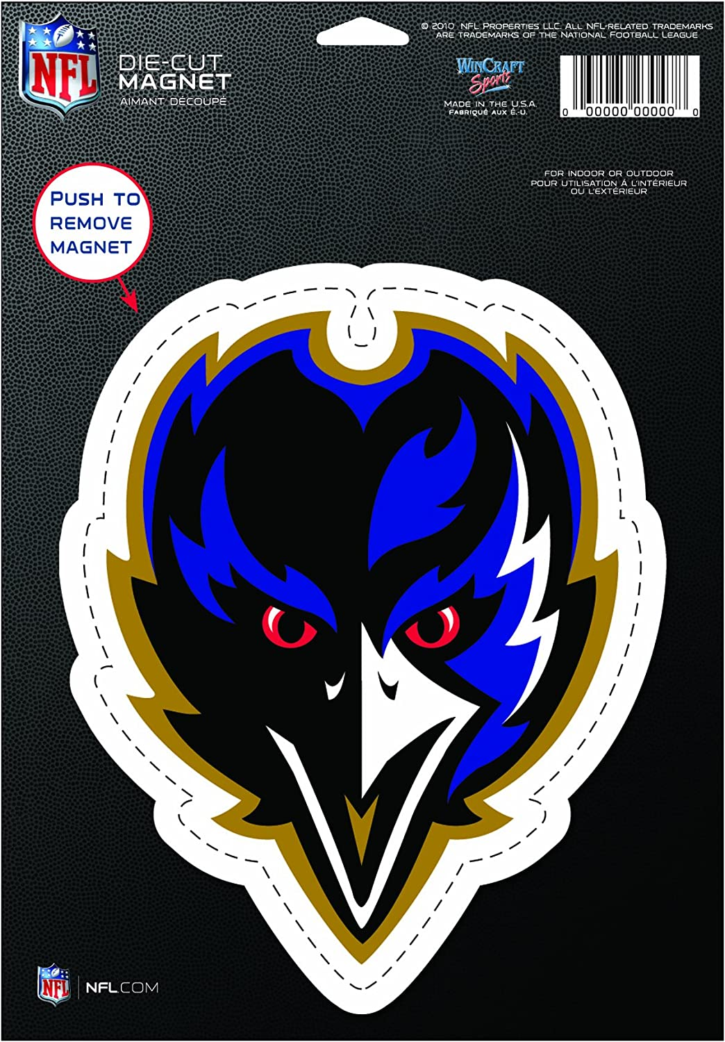 Amazon Com Nfl Baltimore Ravens Die Cut Logo Magnet Bird Sports Related Magnets Sports Outdoors