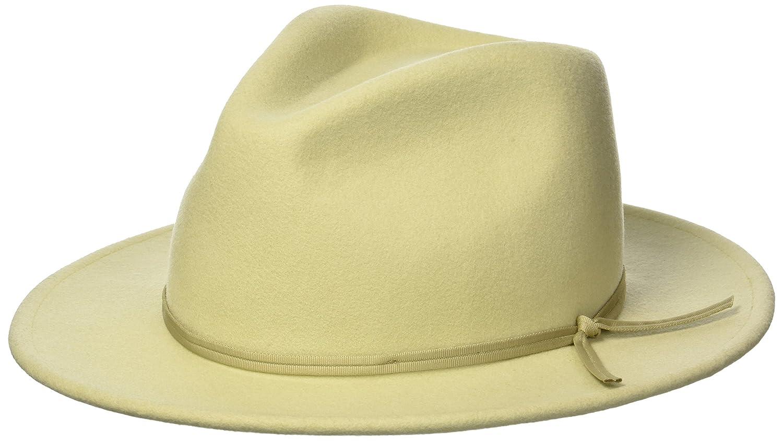 d47b64816 Brixton Men's Coleman Medium Flat Brim Felt Fedora Hat