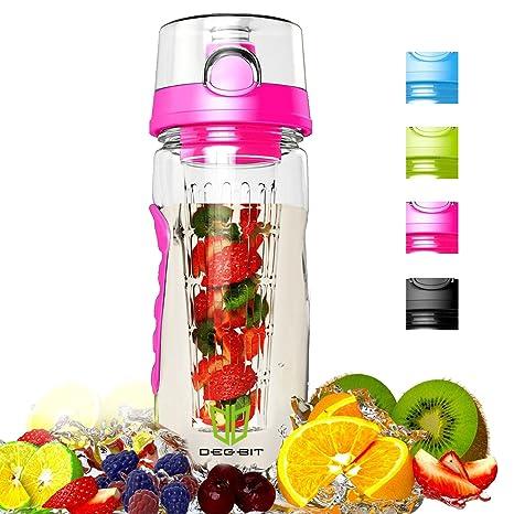 Degbit Botella, Plástico ecológico y sin BPA Botella de Agua, Aprox. 1L bpa