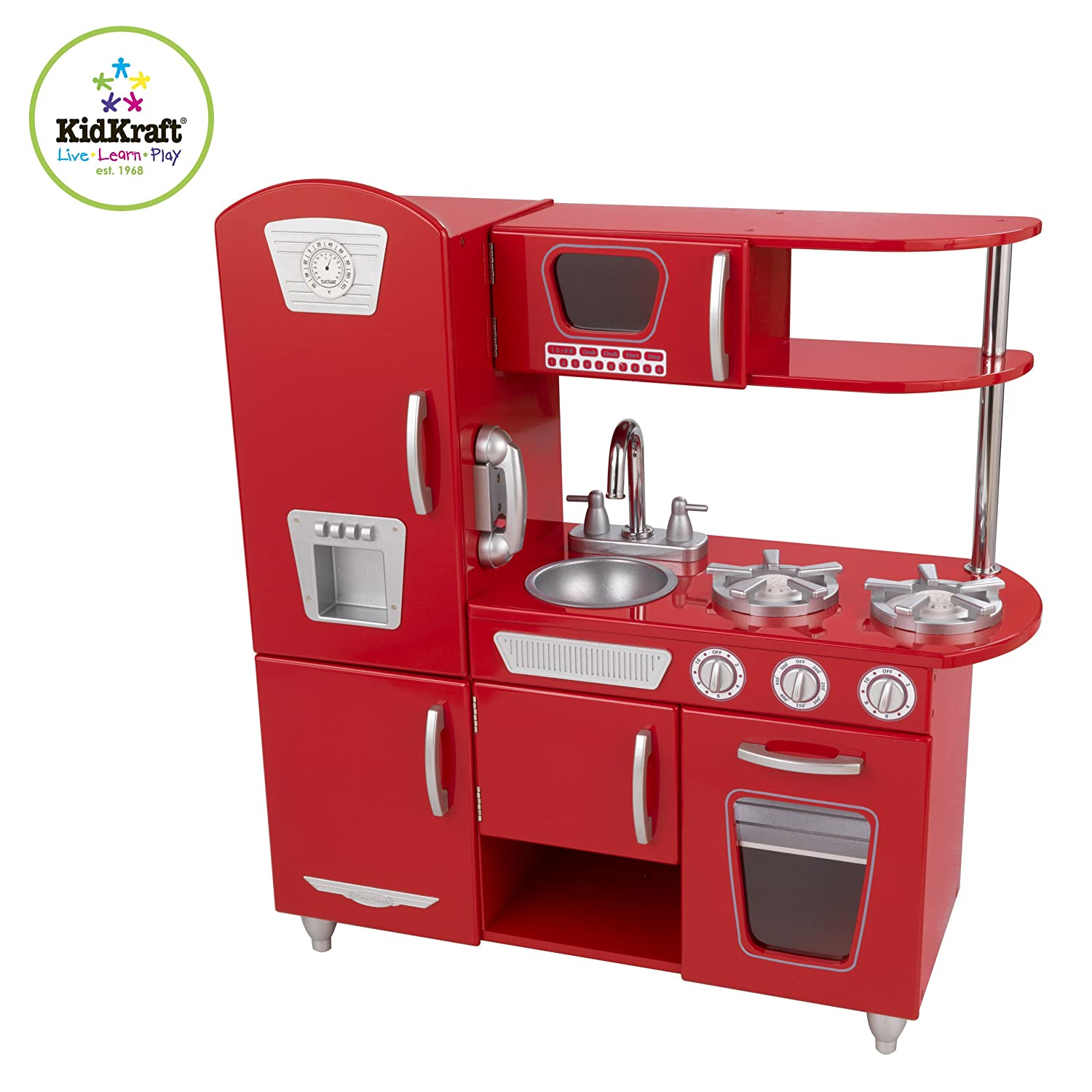 Play Kitchen Amazoncom Red Retro Kitchen Toys Games