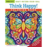 Think Happy! Coloring Book: Craft, Pattern, Color, Chill (Design Originals) 96 Playful Art Activities on Extra-Thick Perforat