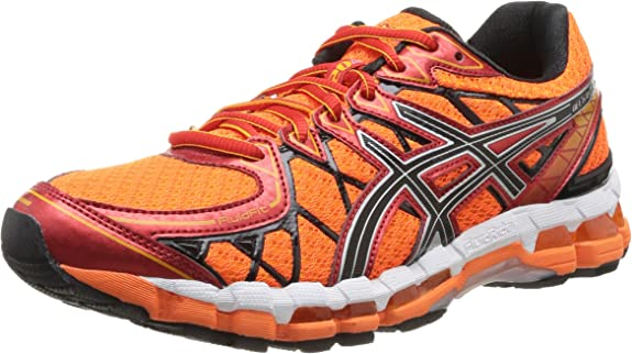 Asics Gel Kayano 20 - Zapatillas de Running para Hombre, Color  FL.Oran/Blk/Red, Talla 40