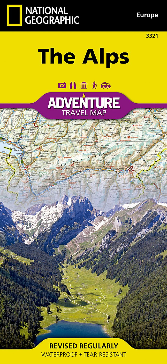 Alps (National Geographic Adventure Map): National Geographic Maps ...