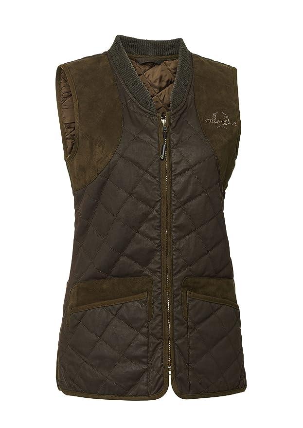 Chevalier Vintage Quilt Waistcoat para mujer 36, marrón: Amazon.es ...