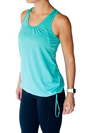 TEMA Athletics Women's Plus-Size Bungee Activewear Yoga Workout Tank Top Gym (2X, Teal)