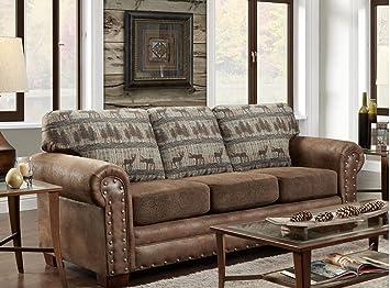 Merveilleux American Furniture Classics Sofa In Deer Teal Lodge Tapestry, Deer Teal  Tapestry