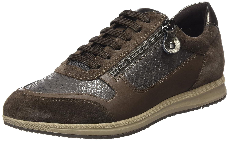 Geox D Avery a, Zapatillas para Mujer 40 EU|Marrón (Smoke Grey/Chestnut C1x6j)