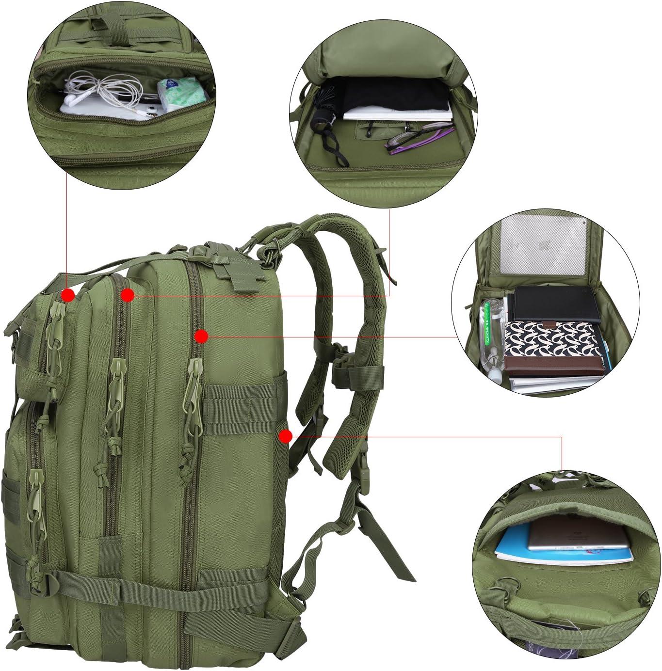 G4Free 40L Mochila T/áctica Resistente al Agua Mochila Militar del Ej/ército Mochila Molle para Senderismo al Aire Libre Camping Trekking Caza Viajar