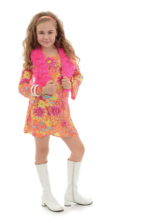 Underwraps Hippie Diva With Vest Girls Costume Medium