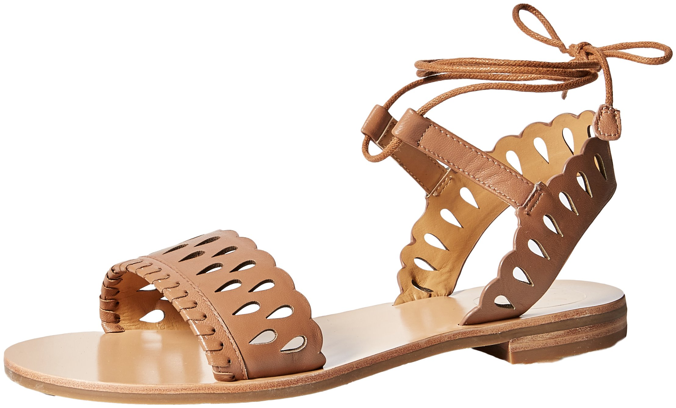 Jack Rogers Women's Ruby Flat Sandal, Cognac, 7 Medium US