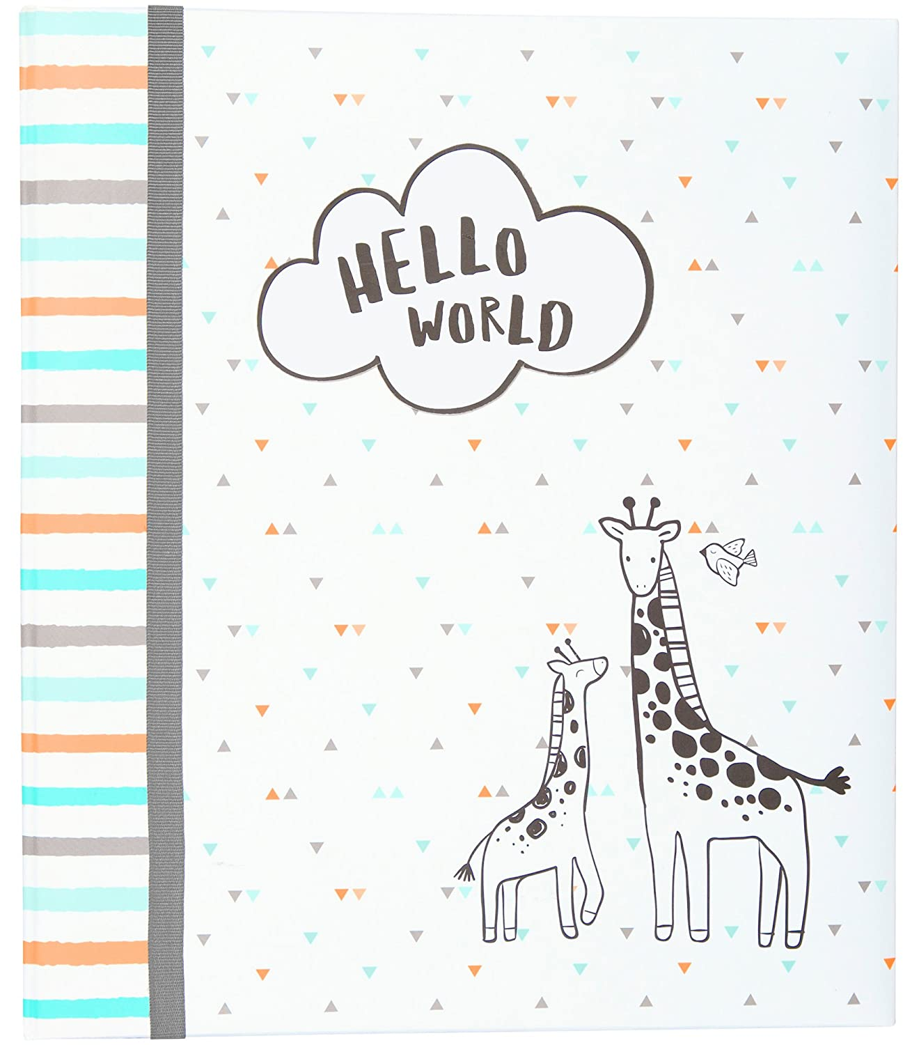 80 Pages 9 W x 8.875 H CartersHello World Slim Bound Photo Journal Album for Babies and Newborns