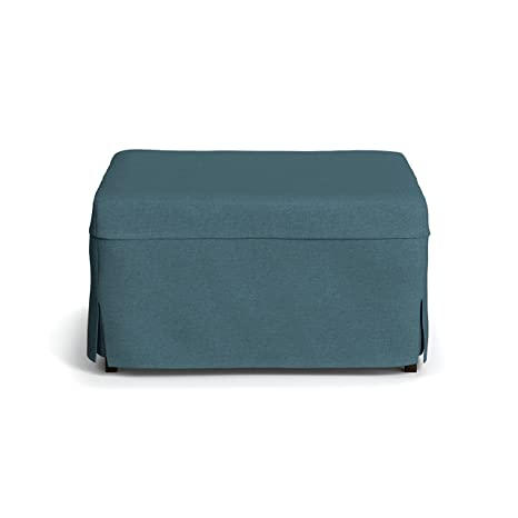Amazing Handy Living Space Saving Folding Ottoman Sleeper Guest Bed Caribbean Blue Twin Caraccident5 Cool Chair Designs And Ideas Caraccident5Info