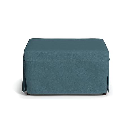 Pleasant Handy Living Space Saving Folding Ottoman Sleeper Guest Bed Caribbean Blue Twin Machost Co Dining Chair Design Ideas Machostcouk