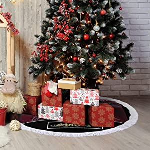 PSDJKI Shakira Logo Christmas Tree Skirt,Christmas Tree Holiday Decor 48''×48''