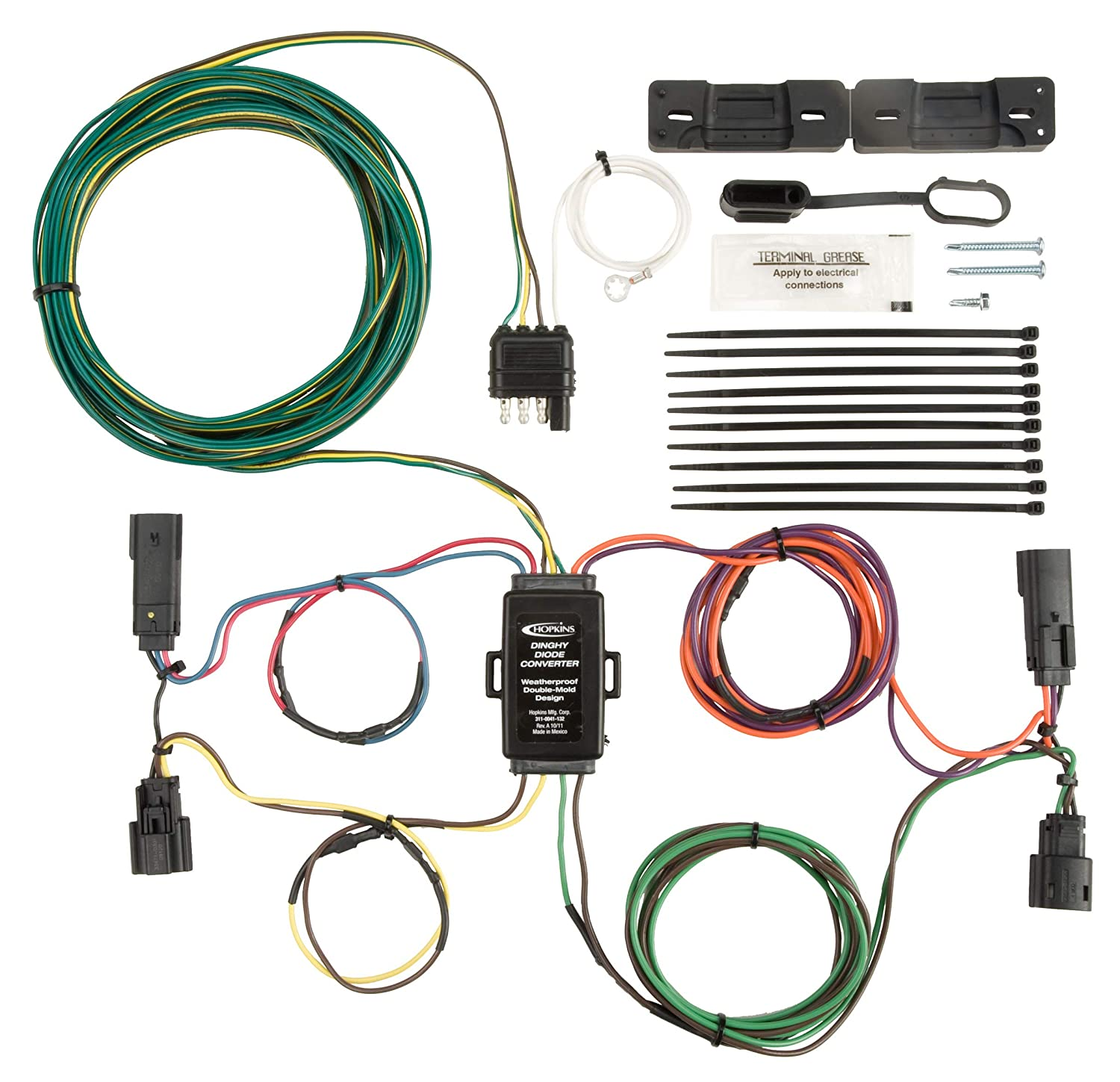Hopkins 56301 Plug-In Simple Towed Vehicle Wiring Kit Hopkins Towing Solution