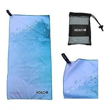 KoachFit Toalla de Microfibra Toalla de Gimnasio pequeña 80 x 40 cm, Toalla Deportiva Suave