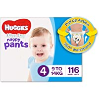 Huggies Ultra Dry Nappy Pants, Boys, Size 4 Toddler (9-14kg), 116 Count