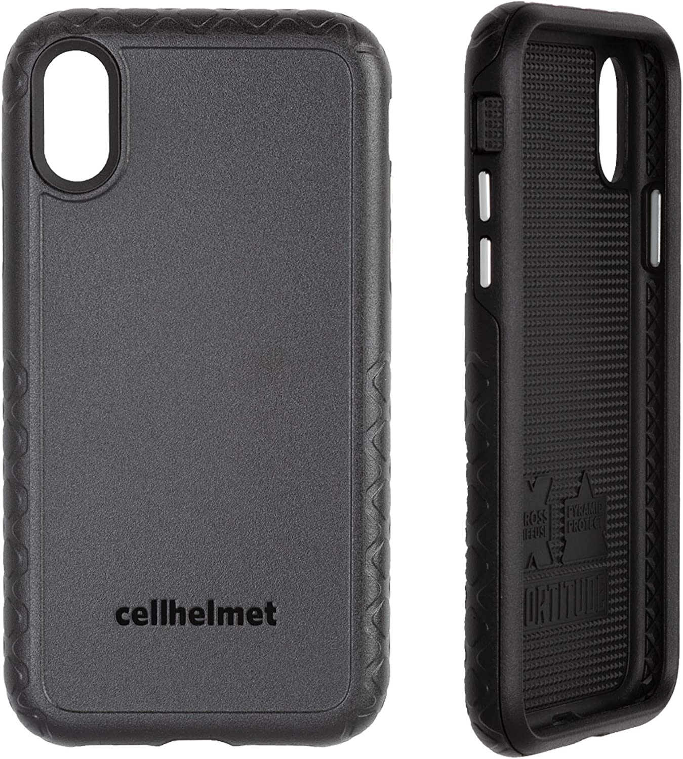 cellhelmet Fortitude Series Onyx Black Dual Layer Phone Case for Apple iPhone Xs/X | As Seen on Shark Tank | in Retail Package