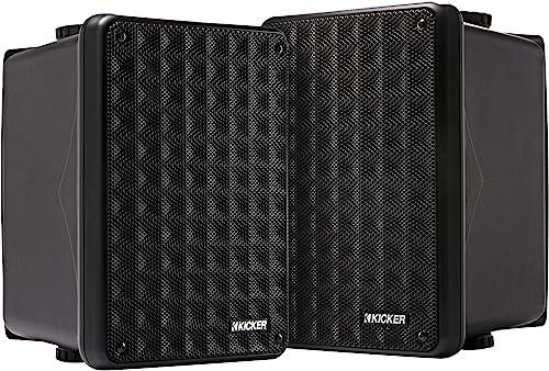 Kicker KB6 2-Way Full-Range Indoor Outdoor Speakers (Pair)