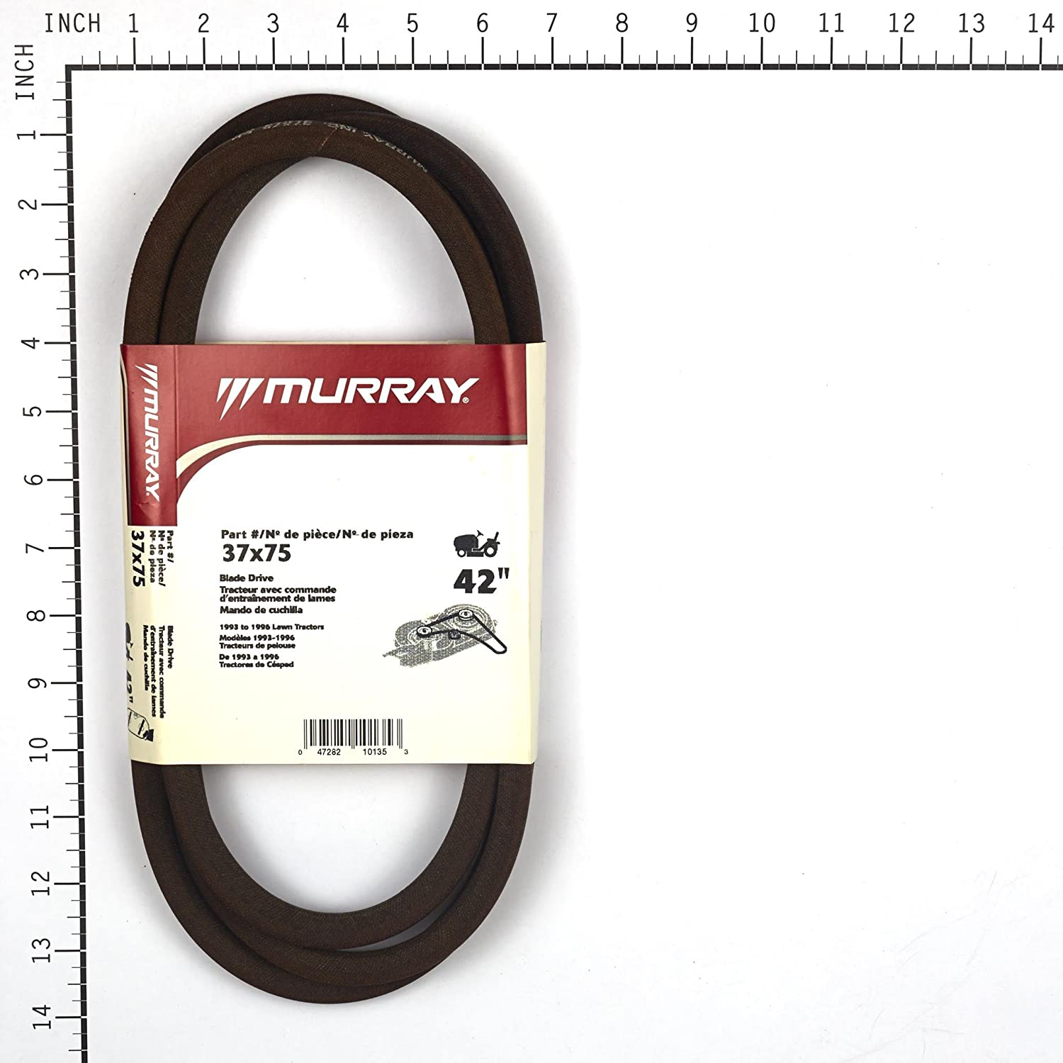 Murray 42 Lawn Mower Blade Belt 90 96 37x75ma Motion Drive Diagram And Parts List For Ridingmowertractor Garden Outdoor